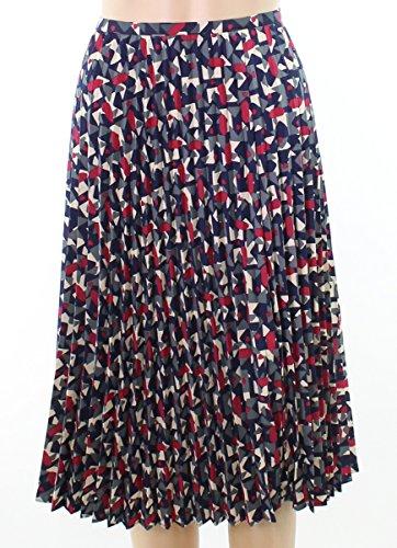 Lauren by Ralph Lauren Womens Abstract Pleated Skirt Blue -