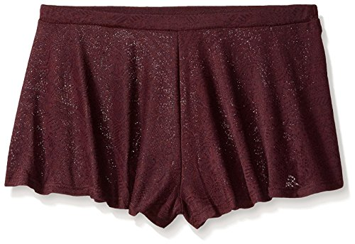 Only Hearts Women's Jersey Lace Swing Shorts, Mulberry, M