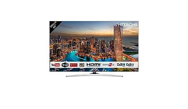 Televisor Hitachi de 65 (165 cm) 4 K OLED UHD 3840 x 2160/Smart TV: Netflix, YouTube, Internet, Facebook/Wifi y Bluetooth/4 HDMI/vga-pc/3 USB (grabador de TV + lector multimedia): Amazon.es: Electrónica
