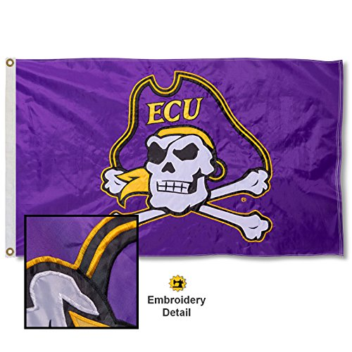 East Carolina University Embroidered and Stitched Nylon Flag