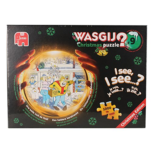 Wasgij 1000 Piece Chrsitmas 9 A Bright Christmas Night Jigsaw Puzzle