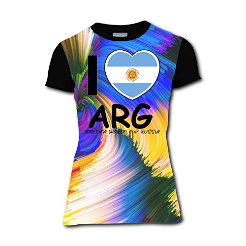 Clofun Women T-Shirts Creative I Love Argentina