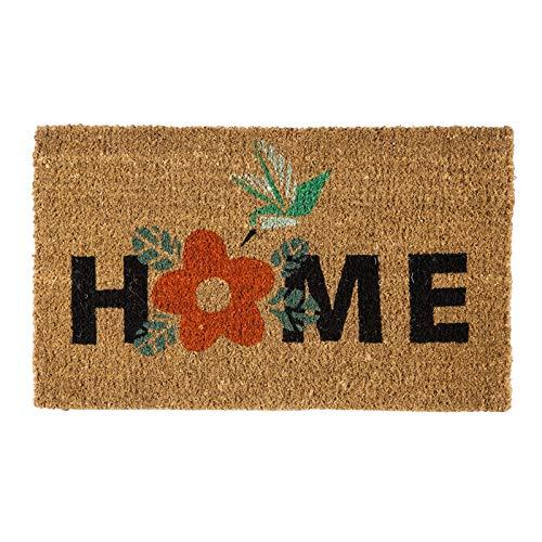 Evergreen Flag Hummingbird Home Woven Back Coir Floor Mat