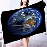 100% Cotton Super Absorbent The Earth from space showing Australia and Indonesia Extremely detailed image Multipurpose Quick Drying L63 x W31.2 INCH