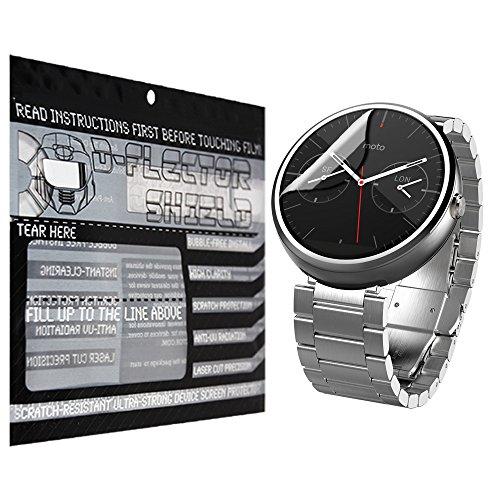 D-Flectorshield Moto 360 Smartwatch Scratch Resistant Screen Protector - Free Replacement Program