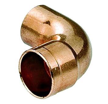 Tubería de agua de cobre apropiado codo conector macho de soldadura x 15 mm de diámetro femenina: Amazon.es: Bricolaje y herramientas