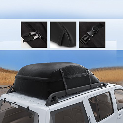 Dozenla Car Roof Top Cargo Bag Vehicles Waterproof Storage Carrier Luggage Travel Organizer [US Stock] by Dozenla (Image #1)