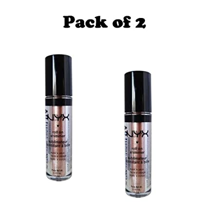 Pack of 2 NYX Roll On Shimmer, RES14 Salmon