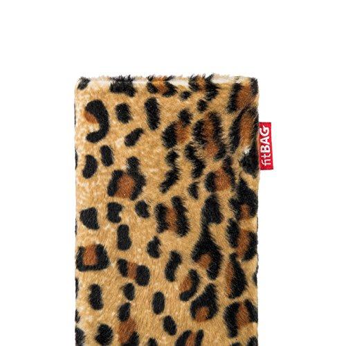 fitBAG Bonga Leopard Handytasche Tasche aus Fellimitat mit Microfaserinnenfutter für iPhone 5s 16GB 32GB 64GB
