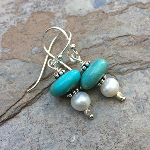 Turquoise and Pearl Earrings ()