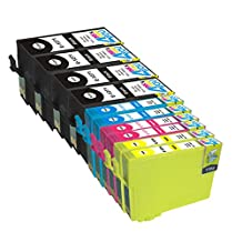 10 Pack - Remanufactured Ink Cartridges for Epson #127 T127 127 T127120 T127220 T127320 T127420 Inkjet Cartridge Compatible With Epson Stylus NX625 NX530 WorkForce 633 630 635 840 645 845 WF-7010 WF-7510 WF-7520 60 545 WF-3540-WF-3520 WF-3530