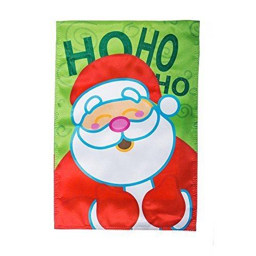 Santa EverNote Fiber Optic HoHoHo Garden Flag by Gifted Living