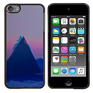 EJOOY---Cubierta de la caja de protección para la piel dura ** Apple iPod Touch 6 6th Touch6 ** --Patrón Geometría Triángulo