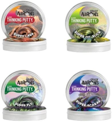 4 x Crazy Aarons ILLUSIONS Putty Toy Scarab,Super Fly,Oil Slick,Lava