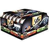 Sheba Wet Food SHEBA PERFECT PORTIONS 2.6 oz. Multipack Cuts in Gravy, Roasted Chicken and Tender Turkey Entrée Wet Cat Food (12 Twin Packs) Every Recipe Formulated Without Grain or Corn