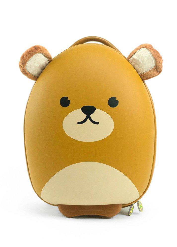 Cute Animal Travel Trolley Luggage for Kids - Bear