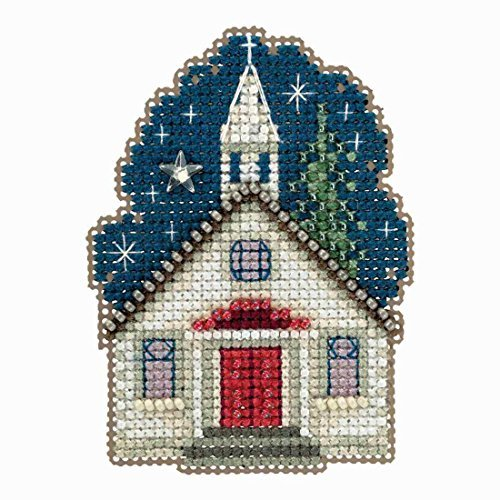 Sunday Night Beaded Counted Cross Stitch Ornament Kit Mill H