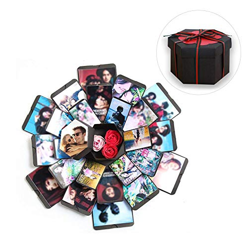 Creative Explosion Box Love Memory DIY Photo Album Box Explosion Surprise Gift Box Wedding Proposal Engagement Birthday Valentine's Day Anniversary Christmas Gifts