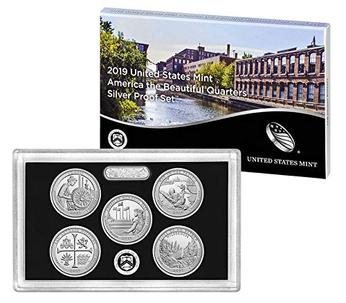 (2019 S United States Mint America the Beautiful Quarters Silver Proof Set Mint)