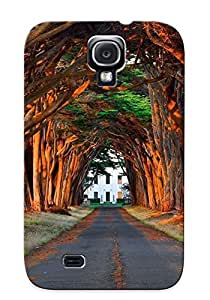 Chistmas' Gift - Cute Appearance Cover/tpu JIpMQoo3194nDaPL Road Under The Trees Leading To The House Case For Galaxy S4