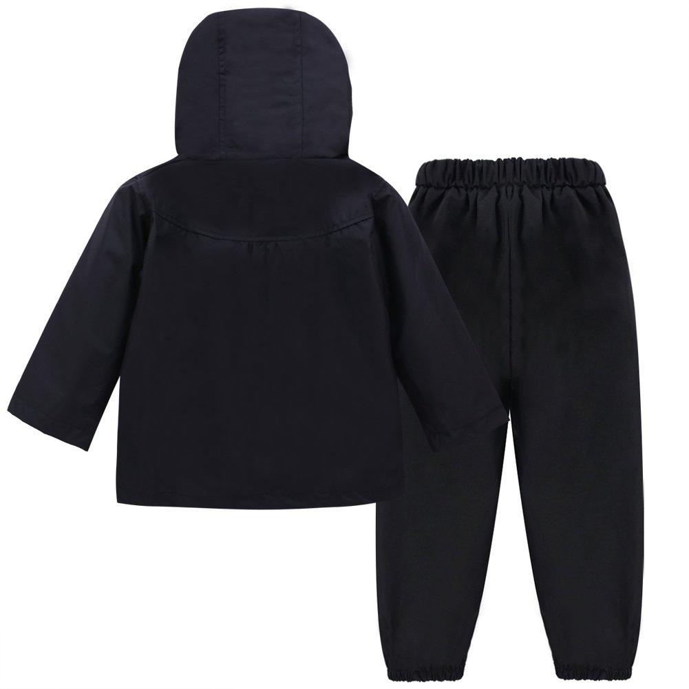 0d86817f77c9 Amazon.com  LZH Toddler Girls Raincoat Waterproof Rain Jacket Pants ...
