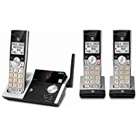 AT&T - CL82315 DECT 6.0 Expandable Cordless Phone with Digital Answering System - Silver/Black by AT&T