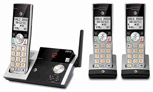 AT&T - CL82315 DECT 6.0 Expandable Cordless Phone with Digital Answering System - Silver/Black by AT&T by AT&T