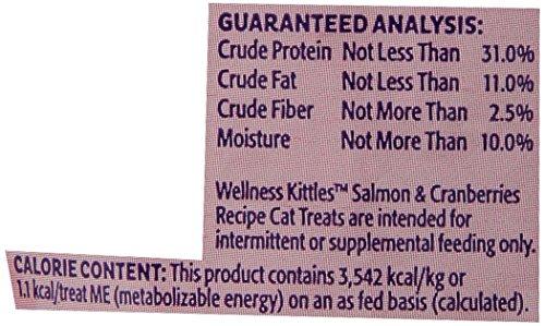 Wellness Kittles Natural Grain Free Cat Treats, Salmon & Cranberries, 2-Ounce Bag by Wellness Natural Pet Food (Image #1)