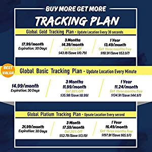 ABLEGRID GPS Tracker for Vehicles, 10000mAh Real-time GPS Tracking Device Small Hidden GPS Locator 4G IOT for Vehicle, Car, Personal, Equipment w/Global SIM Card