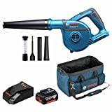 BOSCH GBL18V-120 Professional Cordless Blower (4 Nozzles + 6.0 Ah Battery + Toolbag + Charger)