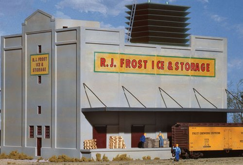 Large Scale Model Railroad (Walthers Cornerstone RJ Frost Cold Storage)