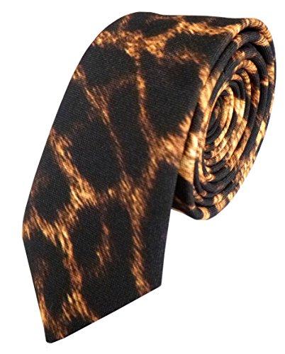 Hipster Print Tie (Leopard Print Skinny Neck Ties (Leopard))