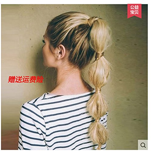 Wig new Korean handmade lanterns bubble playful ponytail wig natural-look fish bone tails ponytail