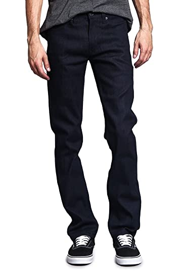 Victorious Men S Slim Fit Unwashed Raw Denim Jeans Dl980 At Amazon