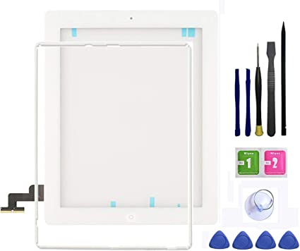 iPad 2 Front Glass Digitizer Touch Screen White