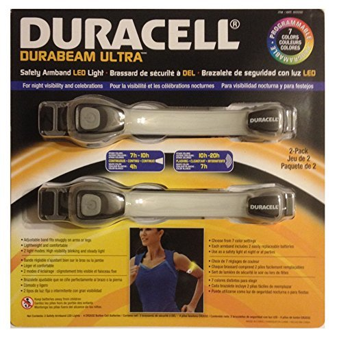 DURACELL DURABEAM ULTRA Safety Armband Led Light Black ends - Duracell Flashlight Black