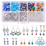 SUNNYCLUE 1 Set DIY 10 Pairs Chandelier Earrings Jewelry Making Starter Kit Include Chandelier Components Connector Charm Pendants, Shell Heart Beads, Earring Hooks and Jewelry Findings