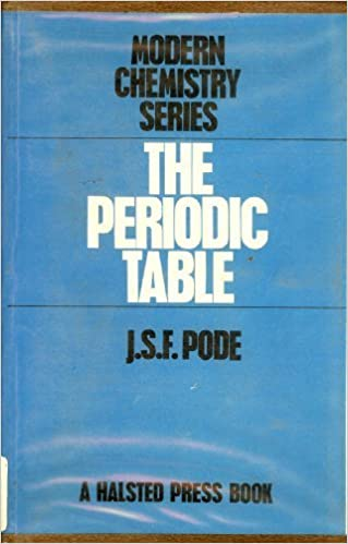 The periodic table experiment theory modern chemistry series the periodic table experiment theory modern chemistry series j s f pode 9780470691441 amazon books urtaz Images
