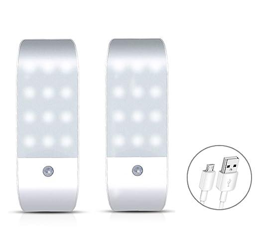 LED Lámpara de pared Oria Armario iluminación luz, 2 unidades Luz nocturna con sensor de