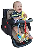 Baby : Baby Buddy Secure-A-Toy, Safety Strap Secures Toys, Teether, or Pacifiers to Strollers, Highchairs, Car Seats—Adjustable Length to Keep Toys Sanitary Clean White/Black/Tan/Olive 4 Count