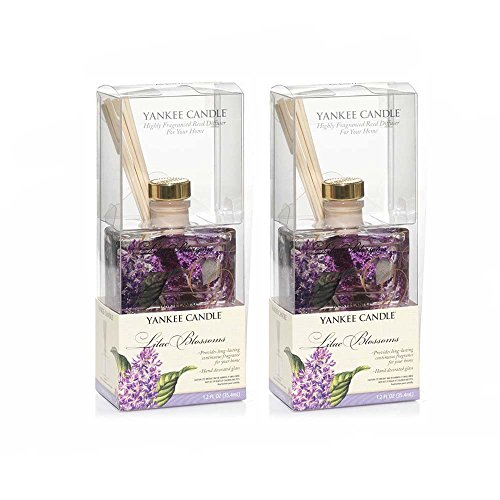 - Yankee Candle Lilac Blossoms MINI Reed Diffuser 1.2oz - Set of 2