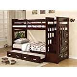 Bunk Bed - Twin Over Twin with Stairway, Trundle and Drawers (Espresso)