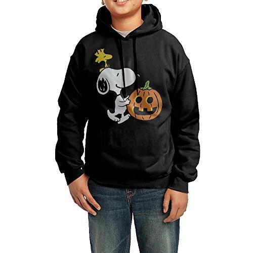 Youth Teenagers Happy Halloween Snoopy Pumpkin Hoodie Sweatshirt