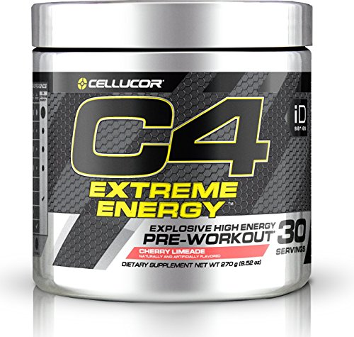 Cellucor C4 Extreme Energy Pre Workout Powder, Explosive High Energy Drink, Cherry Limeade, 30 Servings