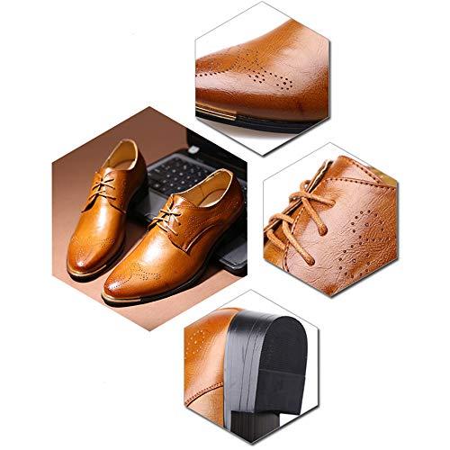 Rsheng Zapatos Tallados De Moda Vintage Bullock Black 4COw4q