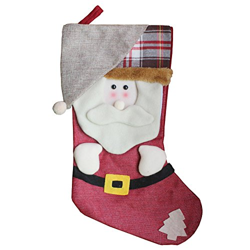 AnciTac Christmas Stockings Hanging Set 17'' Large Bags, Bulk Stocking Kit for Xmas Tree or Fireplace Decoration(Type A) by AnciTac (Image #6)