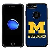 Prime Brands Group Textured Team Color Cell Phone Case Apple iPhone 8 Plus/7 Plus/6S Plus/6 Plus - NCAA Licensed University Michigan Wolverines