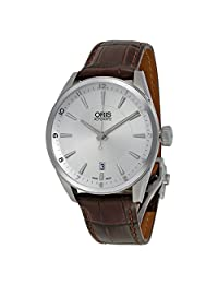 Oris Artix Automatic Silver Dial Brown Leather Mens Watch 733-7713-4031LS