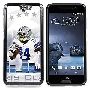 - 24 Football Player - - Cubierta del caso de impacto con el patr??n Art Designs FOR HTC ONE A9 Queen Pattern
