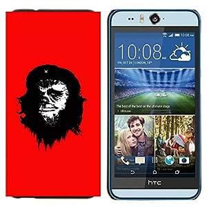 TECHCASE---Cubierta de la caja de protección para la piel dura ** HTC Desire Eye ( M910x ) ** --Che Guevara Caricatura Arte de la pintura del hombre del mono